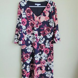 CLEO / Purple Floral Bell Sleeve Dress